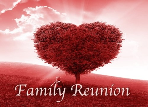 Family Reunion: Funny Guest Book - Keepsake Book - Room for 240 Party Guest Names & Addresses, Blank Space for Comments  -  Red Heart Family Tree
