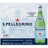 San Pellegrino Sparkling Natural Mineral Water, 33.8-ounce plastic bottles (Pack of 12)