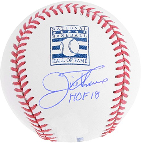 Jim Thome Cleveland Indians Autographed Hall of Fame Logo Baseball with HOF 18 Inscription - Fanatics Authentic Certified ()
