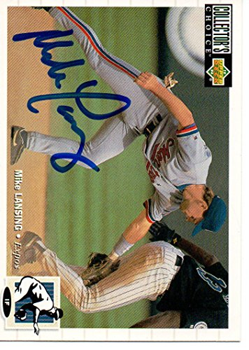 Mike Lansing Montreal Expos 1994 Upper Deck Collector's Choice Signed Card
