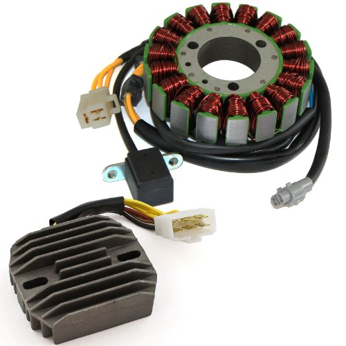 Caltric STATOR & REGULATOR RECTIFIER Fits KAWASAKI BAYOU 300 KLF300B KLF-300B - Rectifier 1997 Regulator 1995 Kawasaki