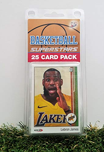 Los Angeles Lakers- (25) Card Pack NBA Basketball Different Laker Superstars Starter Kit! Comes in Souvenir Case! Great Mix of Modern & Vintage Players for the Super Lakers Fan! By 3bros