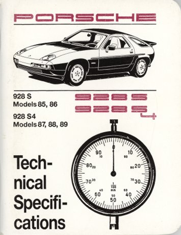 Porsche 928s4 - Porsche 928 S, 928 S4 (1985-89) Technical Specifications