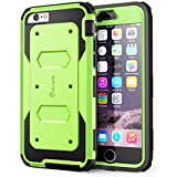iPhone 6s Plus Case, [Armorbox] i-Blason Built-in [Screen Protector] Heavy Duty Shock Reduction [Bumper] for Apple iPhone 6 Plus 5.5 Inch (Green)