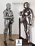 NauticalMart Renaissance Armor German Sallet Suit of Armor - Halloween