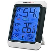 ThermoPro TP55 Termometro Igrometro Digitale con grande Schermo di Tocco Retroilluminato / Misuratore Digitale della Temperatura e Umidità