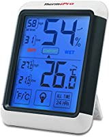 ThermoPro TP55 Thermomètre Hygromètre Numérique, Rétroéclairage Bleu, Grand Écran LCD Tactile, Détecteur de...