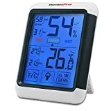 ThermoPro TP55 Digital Thermo-hygrometer with Larger Backlit Display, Monitor Temperature and Humidity for Comfort of Home and Office, Min/Max Records, Batteries Included