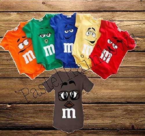 M&M Inspired Baby Shirts-Chocolate Candy Baby Shirt