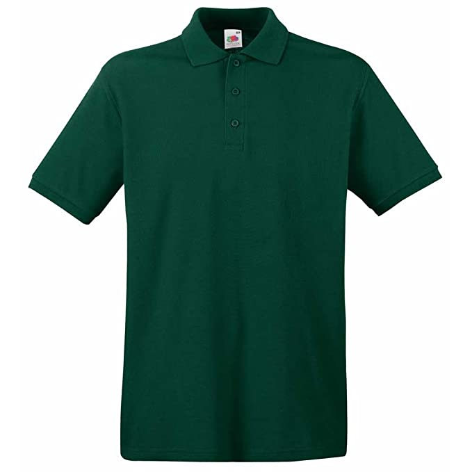 Fruit of the Loom Mens Premium Colours Short Sleeve Cotton Polo ...