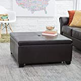 Belham Living Corbett Coffee Table Storage Ottoman - Square