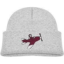 Flying Airplane Kids Custom Fleece Beanie Hat Warm Unisex Skull Cap