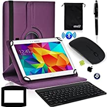 EEEKit for 10 Inch Tablet Lenovo Tab 2 A10-70 Ideatab A10-70,Samsung Galaxy Tab A 9.7 T550,Premium Case Cover+Wireless Keyboard/Mouse