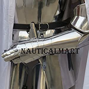 NauticalMart Medieval Functional Steel Gloves Armor Knight Gauntlets