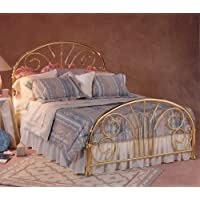 Hillsdale Furniture 1070BQR Jackson Bed Set with Rails, Queen, Classic Brass Plate