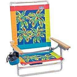 Rio Beach Classic 5 Position Lay Flat Folding Beach Chair - Citrus Palms