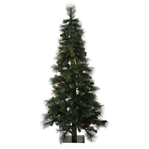 Vickerman 4' Unlit Mixed Pine Berry and Cone Alpine Artificial Christmas Tree