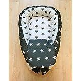 Baby Gift Baby Nest Baby Bed Cotton Crib Bedding Nursery Newborn Gray White