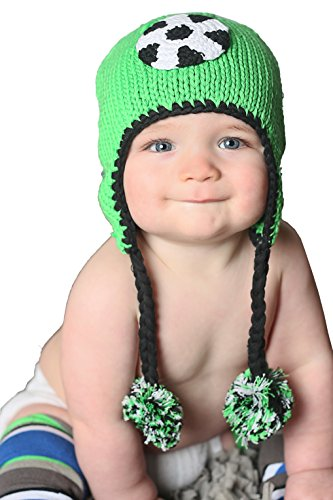 Huggalugs Baby and Toddler Boys or Girls Soccer Beanie Hat S