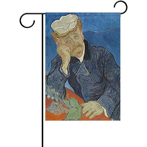 - Startoronto Van Gogh Painting Dr Paul Gachet Garden Flag Banner 12 x 18 Inch Decorative Garden Flag for Outdoor Lawn and Garden Home Décor Double-Sided
