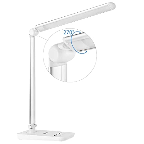 LEDGLE LED Desk Lamp 9W Eye Caring Dimmable Office Table Lamp Reading  Lights, 7