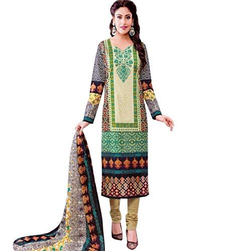 Ready to Wear Lawn Cotton Ethnic Printed Salwar Kameez suit Indian – 0X Plus, Multicolor