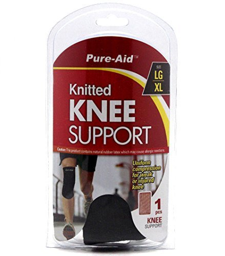 (Pure-aid Knitted Knee Support Large/xl for Weak or Injured Knee)
