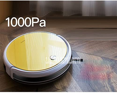 JJYJQR Aspirateur robot, aspirateur robot aspirateur automatique pour Home 22W Sweeping Staub stérilisation Smart geplante mobile App 2600mAh Batterie Or