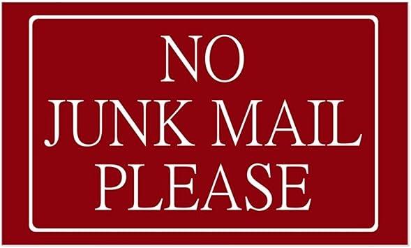 No Junk Mail Sticker Decal Safety Sign Car Vinyl