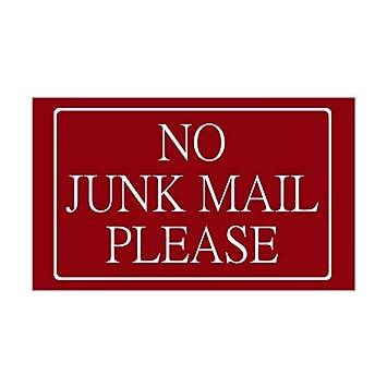 CafePress No Junk Mail Sticker (Wide Rectangular) Rectangle Bumper Sticker  Car Decal