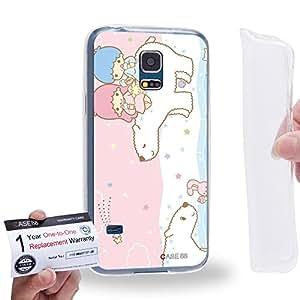 Case88 [Samsung Galaxy S5 Mini] Gel TPU Carcasa/Funda & Tarjeta de garantía - Little Twin Star Kiki And Lala Dreamy Diary 1318