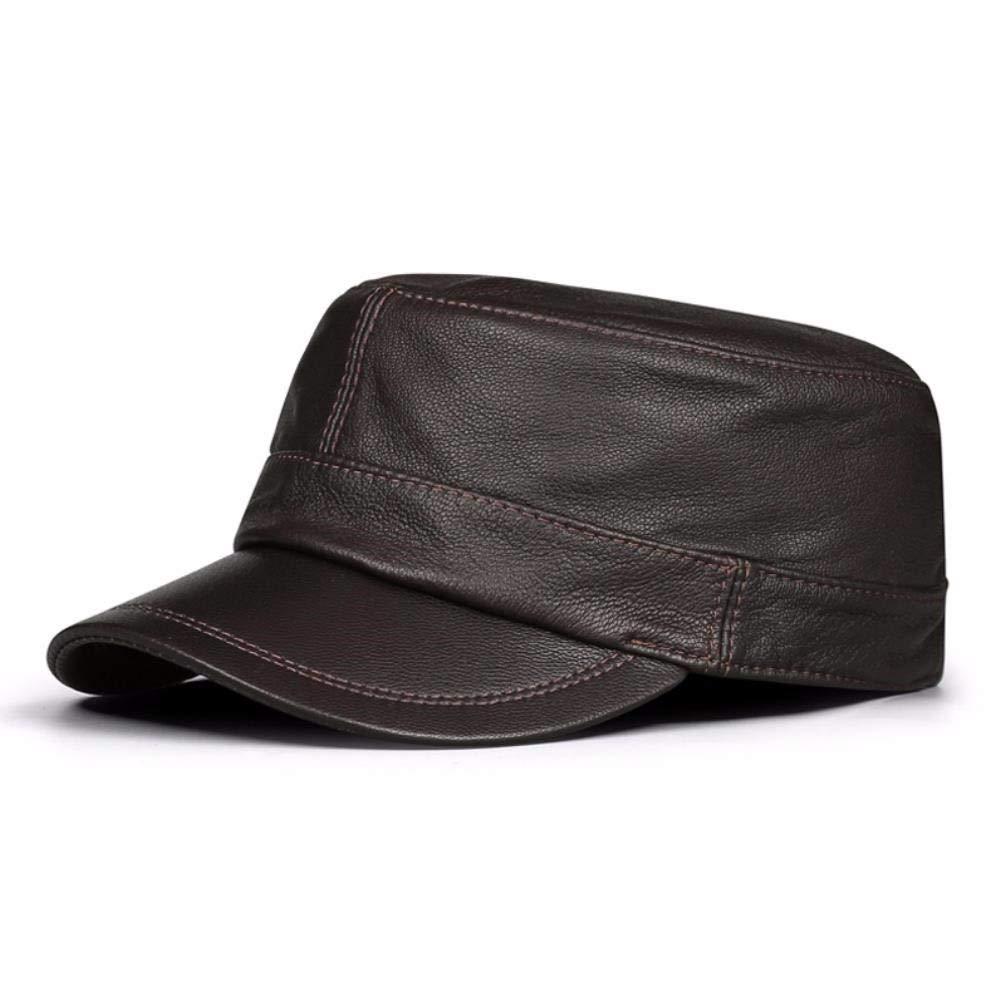 LIUXINDA-PM Der Herbst- und Winterhut der Männer hat einen flachen Hut und eine Flache Kappe aus Leder
