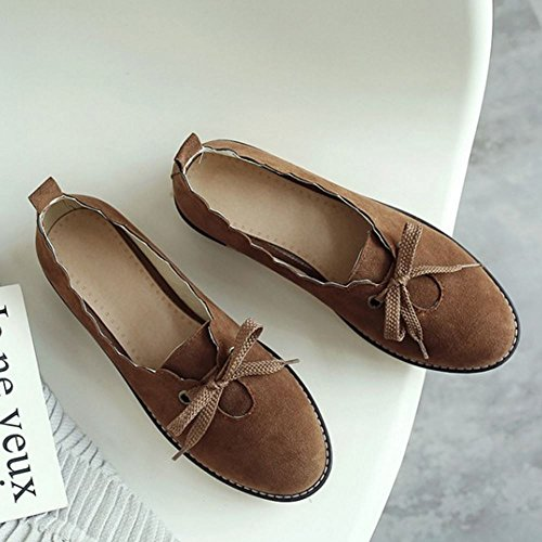 Melady Brown Women Flat Casual Brogue Shoes 4wOq4rZ