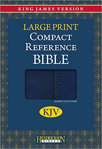 Book Kjv Compact Reference Bible - Blue with Magnetic Flap (Kjv Comapct Reference Bible)