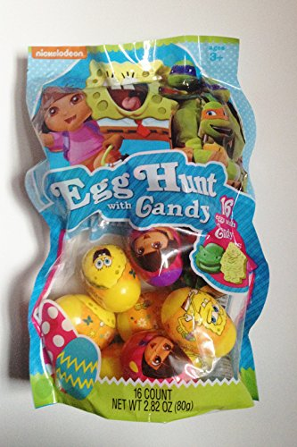 [Nickelodeon Eggs with Candy, Dora Spongebob and Teenage Mutant Turtles] (Nickelodeon Teenage Mutant Ninja Turtles Treat Bags)