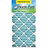 "Nordic Pure 20x30x2 Pure Baking Soda Odor Deodorizing AC Furnace Air Filters 20"" x 30"" x 2"" 3 Piece"