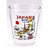 Japan Landmarks and Icons Collage Shot Glass