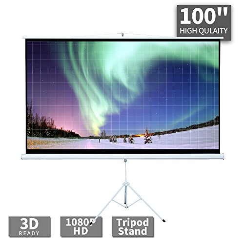 100 Inch Projector Screen with Stand - 100