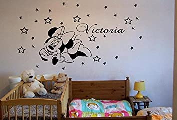 Adhesivo para la pared personalizable, diseño de Minnie Mouse, ideal para habitaciones infantiles b-zone