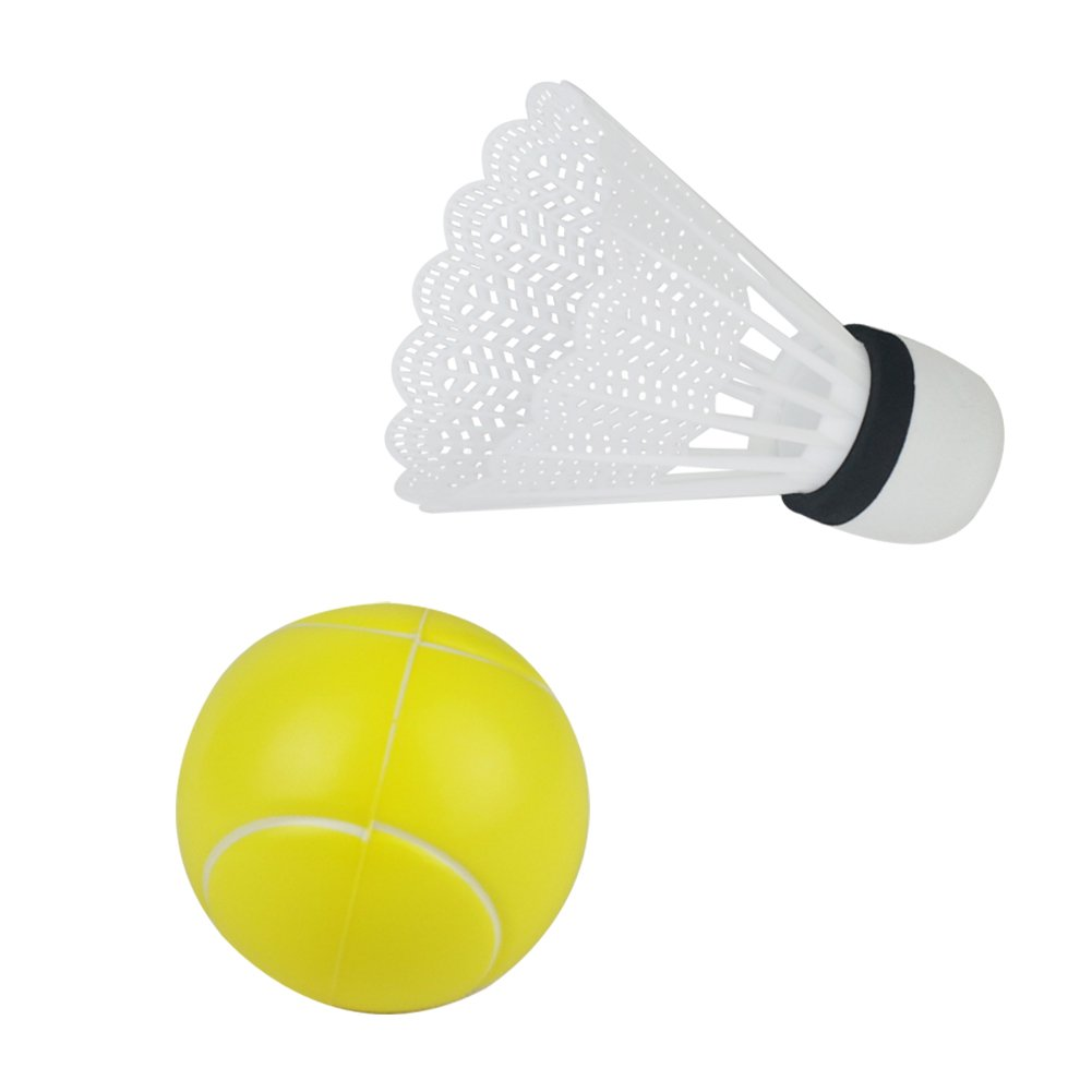 Akokie Tennis Badminton Balls 2 Pcs Accessoires pour Enfants Raquettes de Badminton
