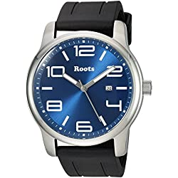 Roots Men's 'Core' Quartz Stainless Steel and Rubber Casual Watch, Color:Black (Model: 1R-LF420BU1B)