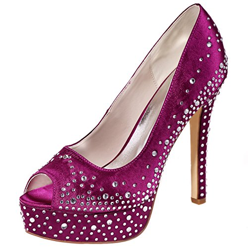 See Below Another Pair Of Beautiful Purple Colored Bridal Shoes Decorated  With Lots Of Rhinestones   Decorative Ladies Purple Wedding Shoes With  Rhinestones