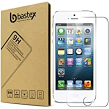 Bastex Apple iPhone SE [0.26mm Thickness] 9-H Premium Tempered Glass Screen Protector / Ultra High Definition Invisible, Anti-Bubble Crystal Shield for Apple iPhone SE (Compatible with iPhone 5, 5s)