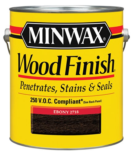 Voc Stain (Minwax 710960000 Wood Finish - Penetrates, Stains & Seals, 250 VOC, gallon, Ebony)