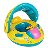 Vivay Baby Pool Float with Canopy Toddler Inflatable Pool Toys Summer Swimming Float with Seat