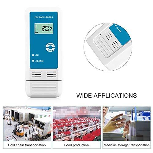 YMUP-20 PDF Temperatura Humedad Registrador LCD IP54 Impermeable Registrador de Datos USB Probador Detector Termómetro Higrómetro Medidor: Amazon.es: ...