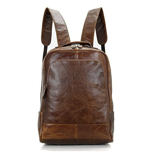 Handmade Vintage Style Top Grain Luxury Real Leather Backpack Briefcase Messenger Bag Laptop Bag by Jellybean Gorilla