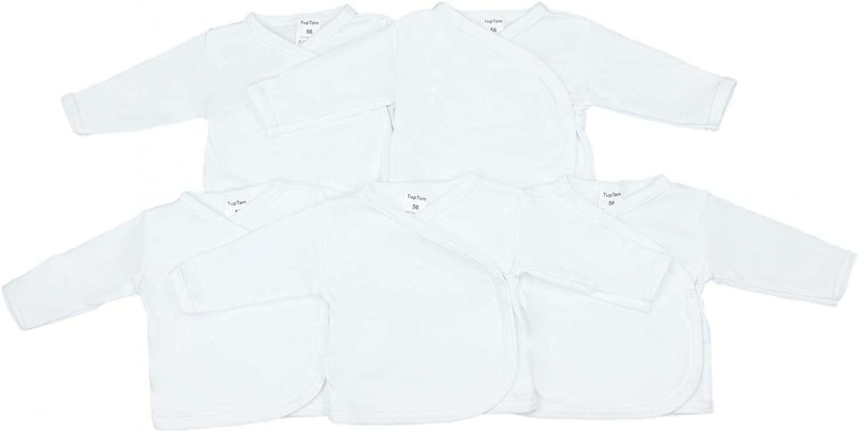 TupTam Camiseta Manga Larga para Bebé, Pack de 5