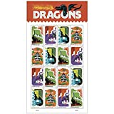 Dragons - 2018 USPS Forever First Class Postage Stamp (Sheet of 16)