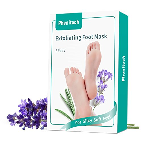 Foot Peel Mask Feet Baby Soft Touch 2 Pack- Phenitech Exfoliating Dead skin Foot Peeling Mask and Callus Reducer Away by Phenitech (Image #4)